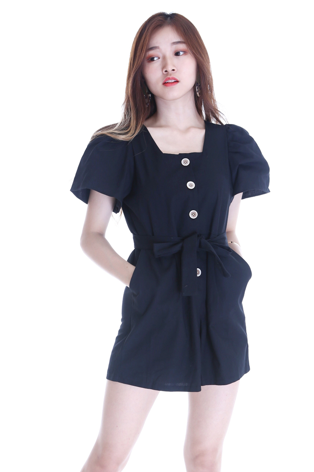 BACKORDER- RISA ROMPER IN BLACK
