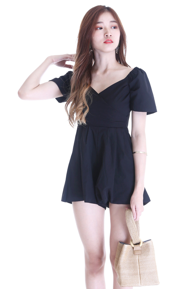 BACKORDER - MIKA ROMPER IN BLACK