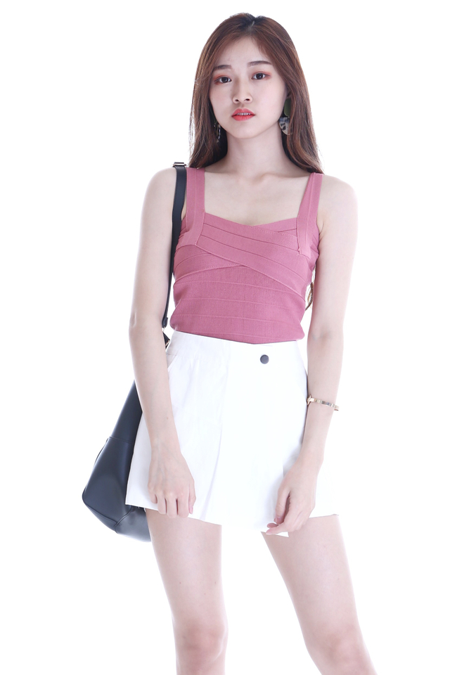 BACKORDER - WADE KNIT BADYCON TOP IN PINK