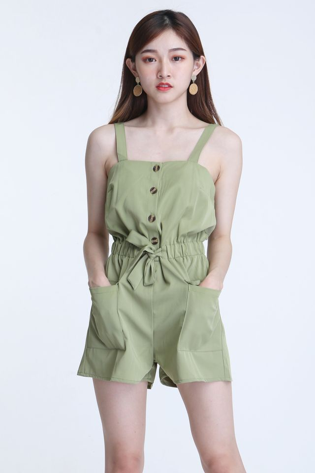 IN STOCK - EMIA ROMPER IN GREEN