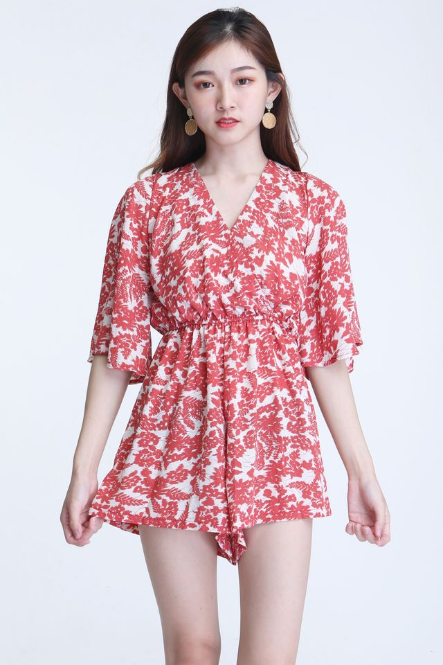 BACKORDER - TAZR ROMPER IN RED PRINTED