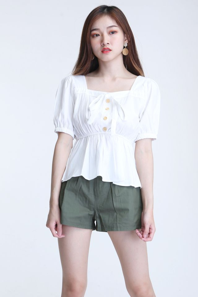 BACKORDER-  JETT TOP IN WHITE