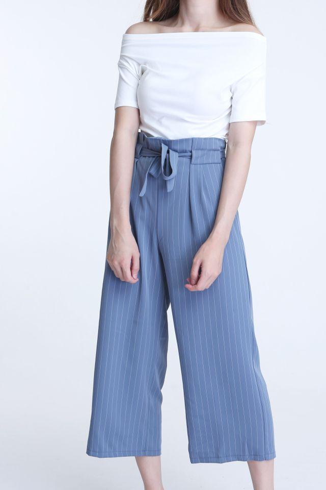 BACKORDER - CHARVI STRIPES PANTS IN BLUE