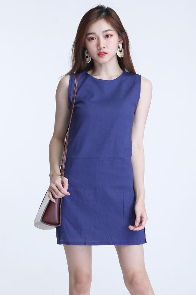 BACKORDER - KYLETTE DRESS WITH INNER PANTS IN BLUE