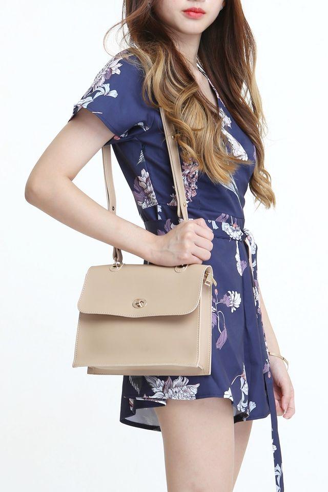 BACkORDER-  ALBIE SLING BAG IN BEIGH