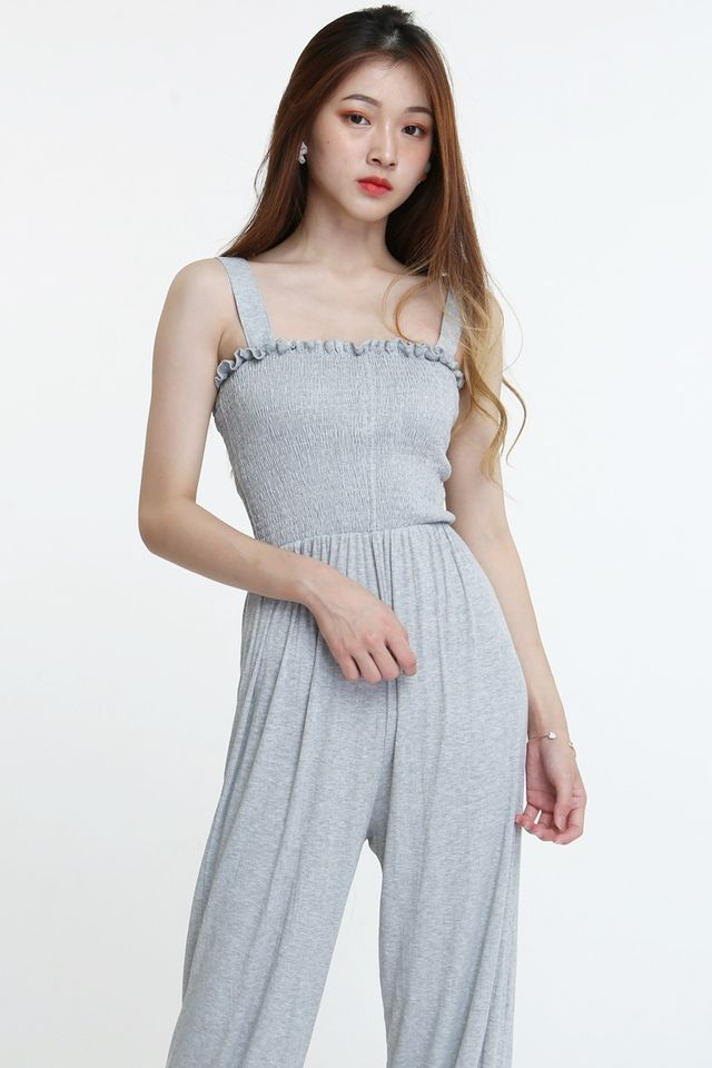 BACKORDER - COLE LONG JUMPSUIT IN GREY