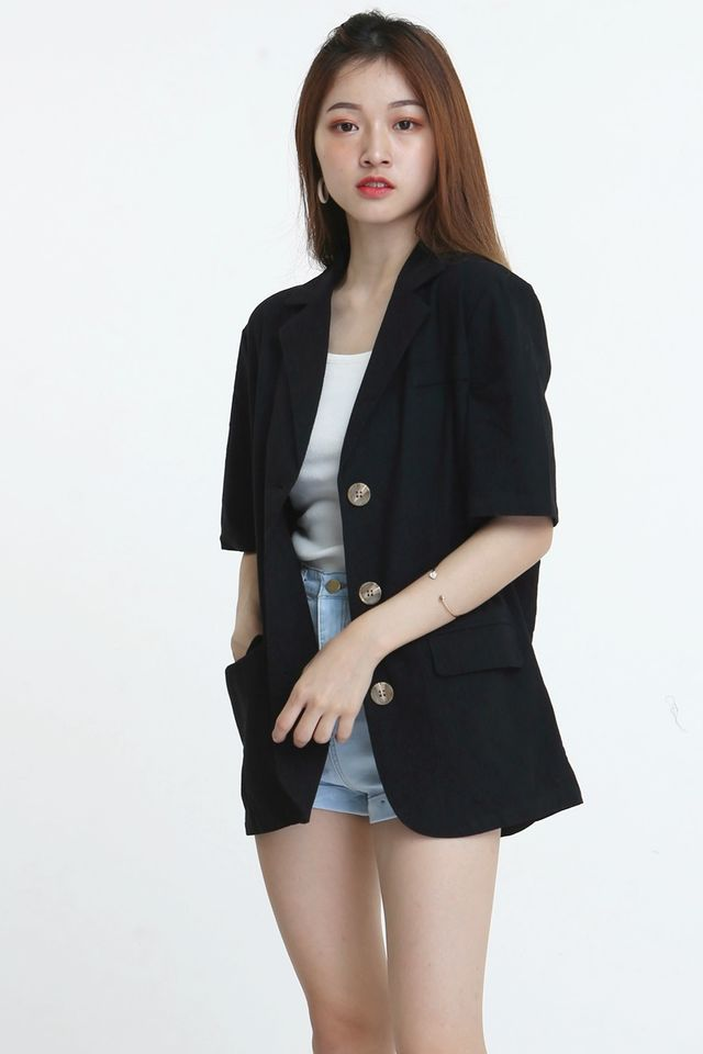 BACKORDER- CEDENCE OUTER SHIRT IN BLACK