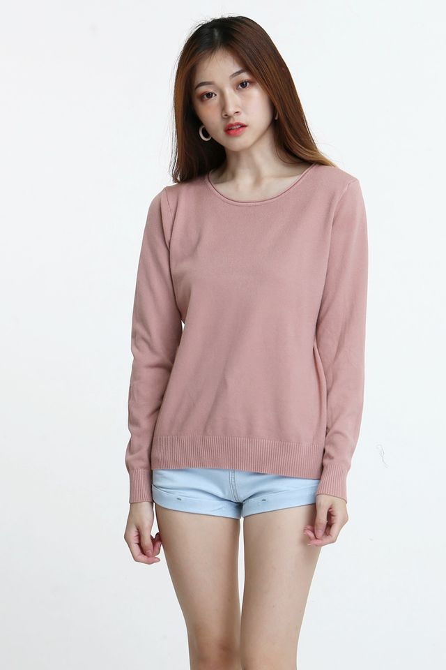 IN STOCK - ASA  KNIT TOP IN  SAND PINK
