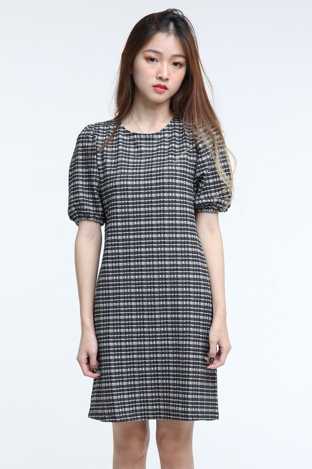 BACKORDER - PAMELA PRINTED DRESS IN BLACK WHITE