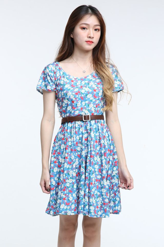 IN STOCK - KARLA FLORAL DRESS IN BLUE