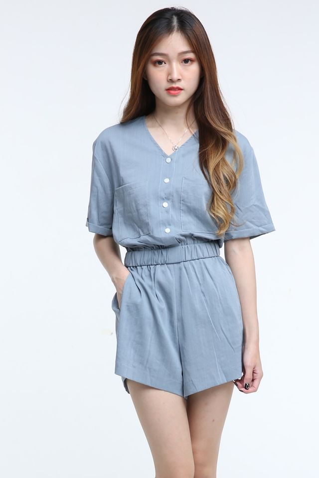 IN STOCK - VOLLY ROMPER IN GREY