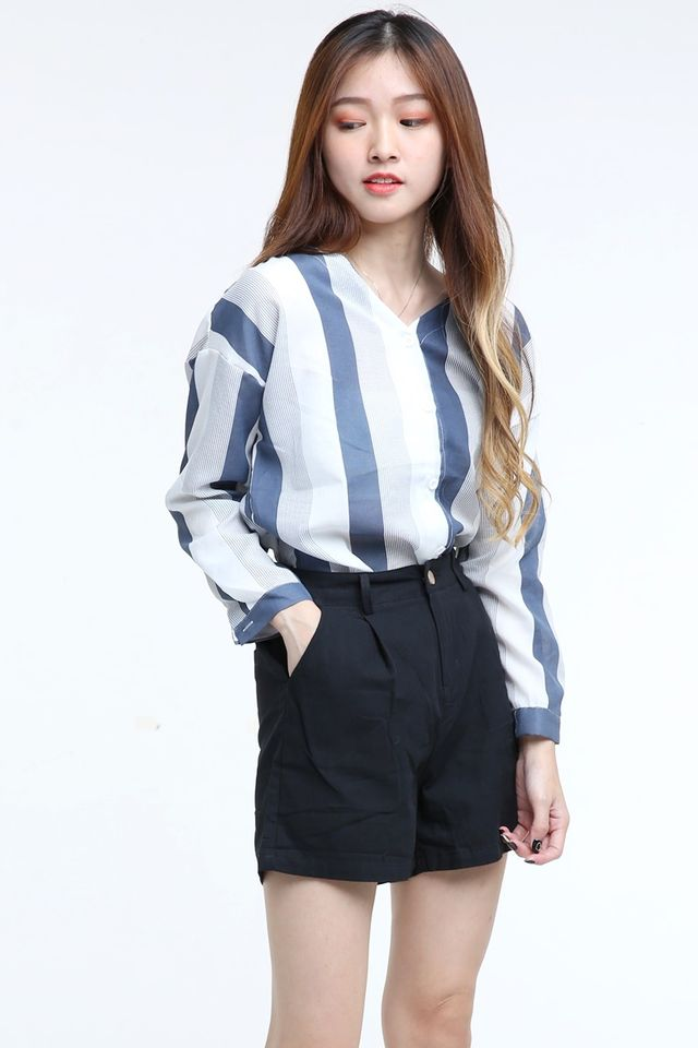 IN STOCK  - LUCIA BLOUSE IN BLUE