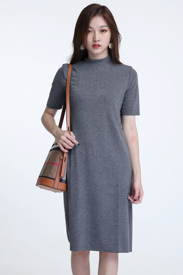 BACKORDER - TANYA SHIFT DRESS IN GREY