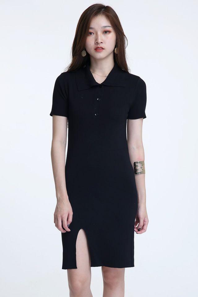 BACKORDER- PRESTON DRESS IN BLACK