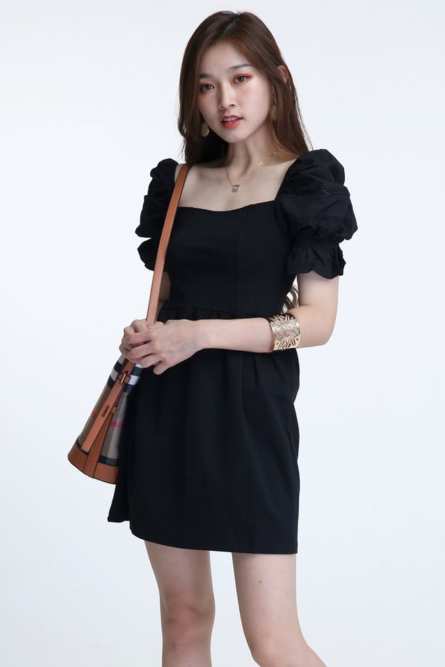 BACKORDER -NORAH DRESS IN BLACK