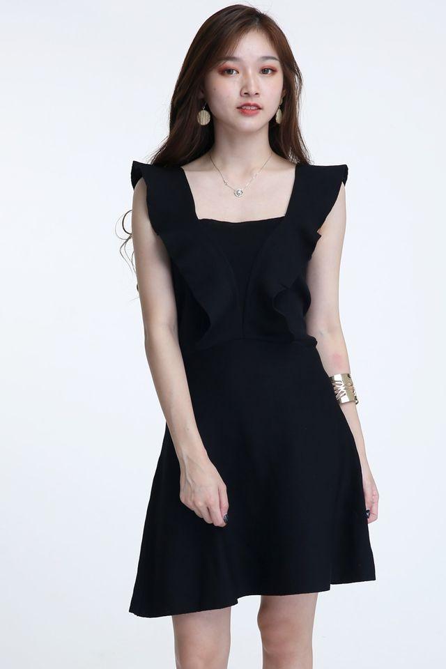 BACKORDER - EIRA KNIT DRESS IN BLACK