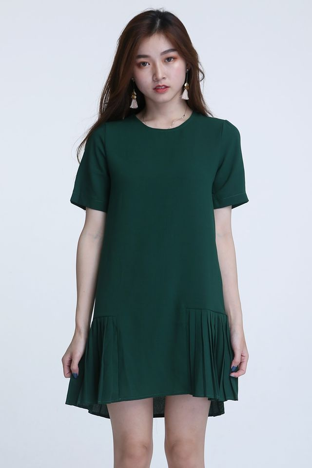 BACKORDER- NALI SHIFT DRESS IN GREEN