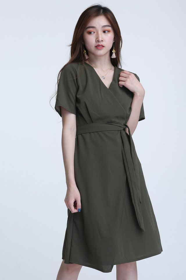 BACKORDER - ARNOLD DRESS IN ARMY GREEN