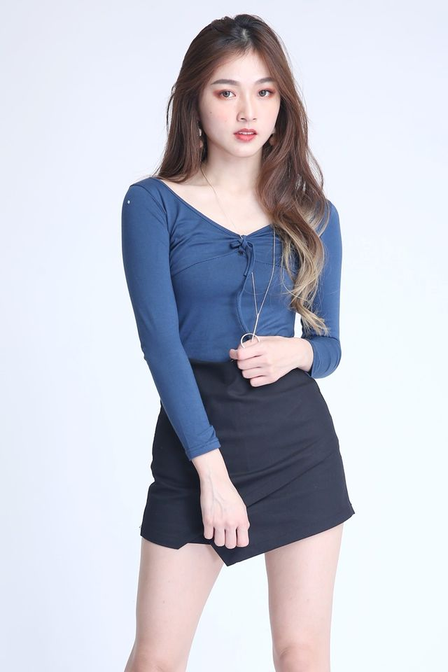 BACKORDER - PEGGY TOP IN TEAL