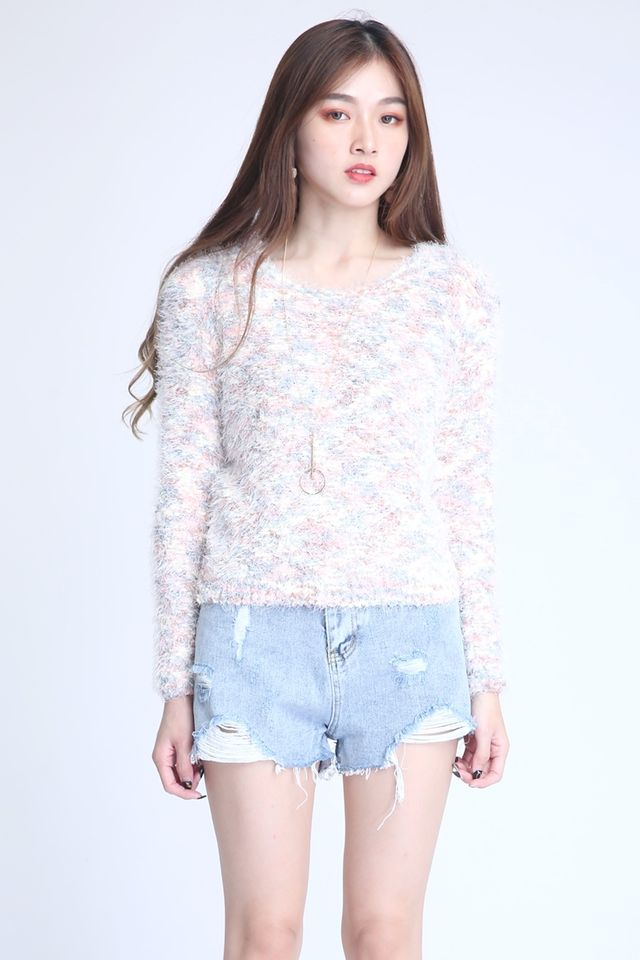BACKORDER- SNOWNY KNIT TOP (MIXTURE COLOUR)