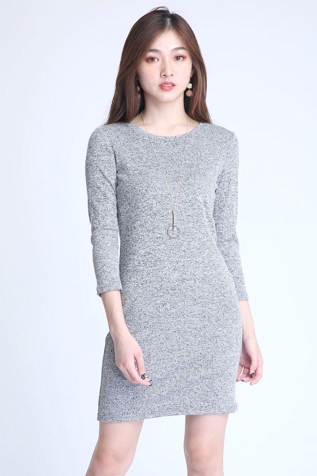 SG IN STOCK- BASIC SHIFT DRESS IN GREY