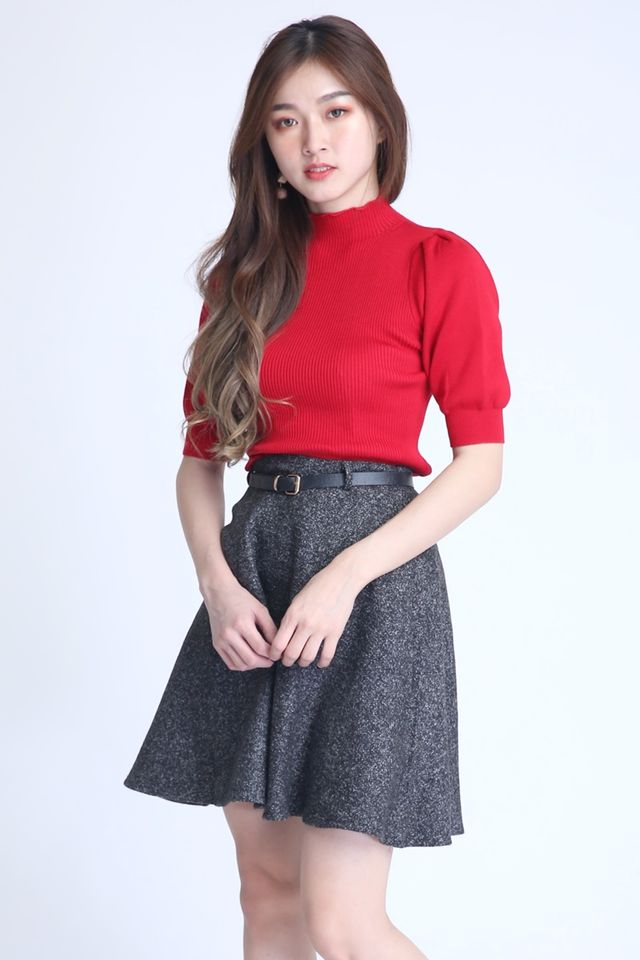 IN STOCK- RASMUS KNIT TOP IN RED