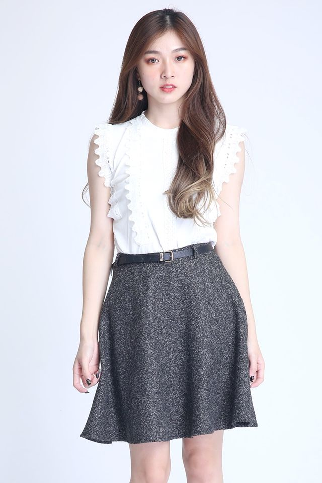 BACKORDER- SENIA LACE TOP IN WHITE