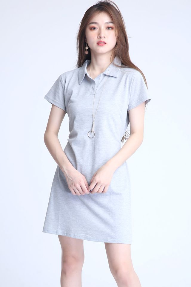 BACKORDER - DISA POLO DRESS IN GREY