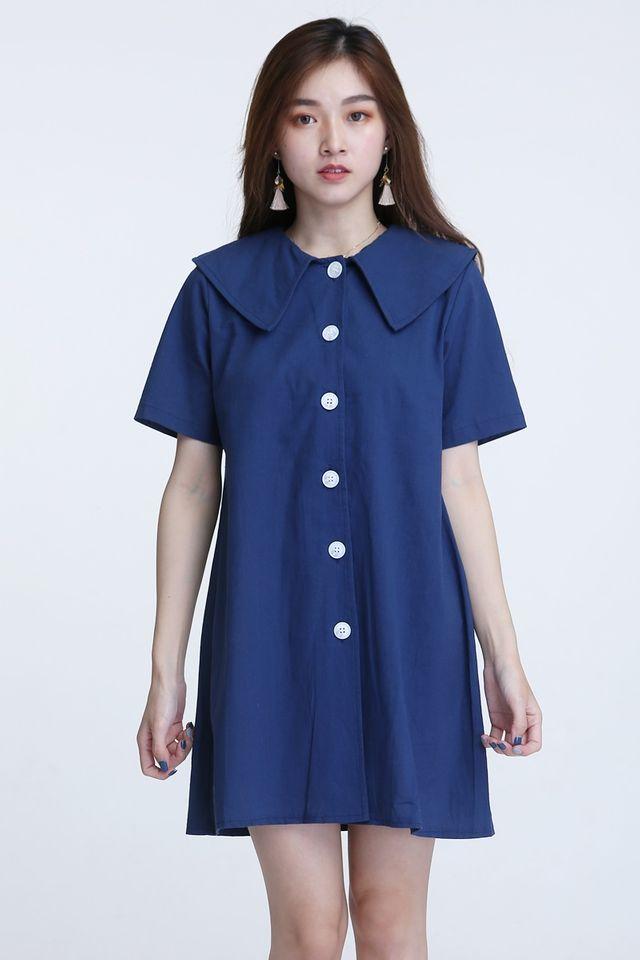 BACKORDER - ALESSIA DRESS IN BLUE