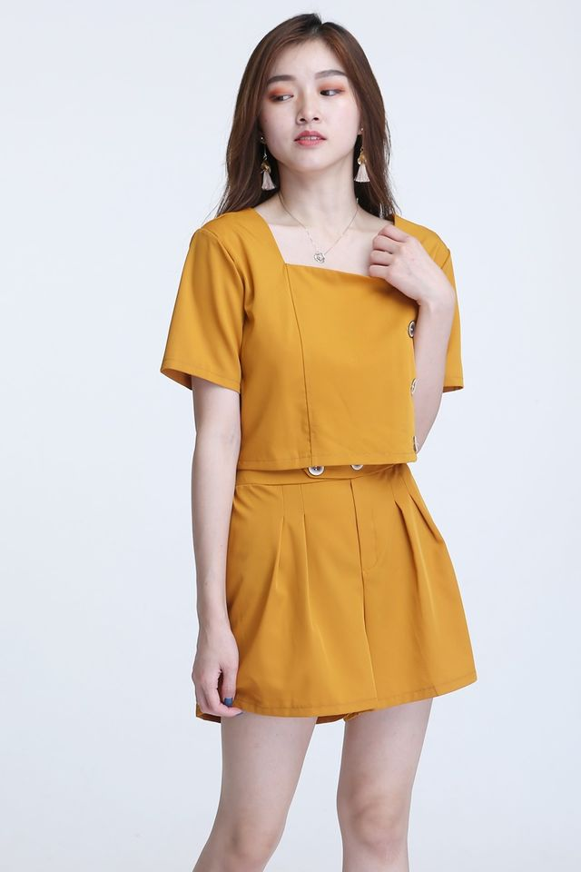 BACKORDER-  CHARLOTTE TOP & PANTS SET IN YELLOW