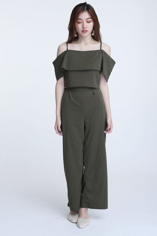 BACKORDER-  ALONZO TOP & LONG PANTS SET IN GREEN