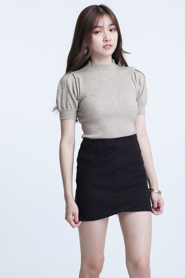 SG IN STOCK -WILLIAM KNIT TOP IN BROWN