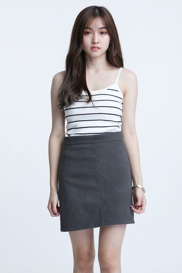 BACKORDER- STRIPES KNIT TOP IN WHITE