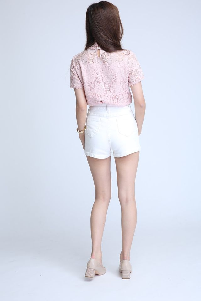 BACKORDER- GEM LACE TOP IN PINK
