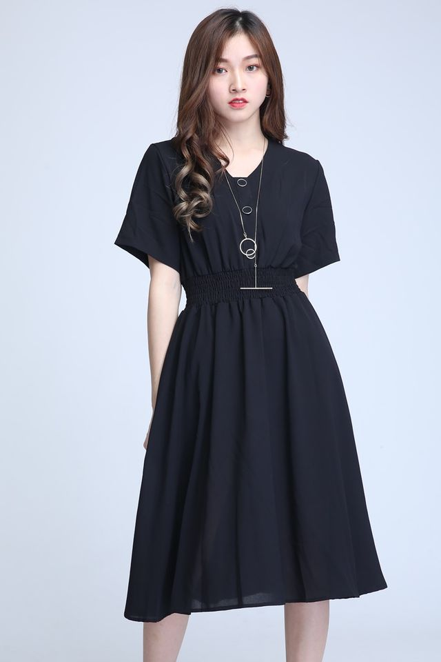 BACKORDER-JULIET DRESS IN BLACK
