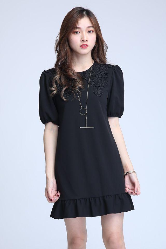 SG IN STOCK -BRACH DRESS IN BLACK