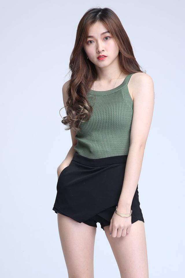BACKORDER- MIA KNIT TOP IN GREEN