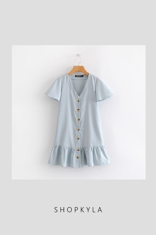 BACKORDER - JASS DROP WAIST DRESS IN BLUE