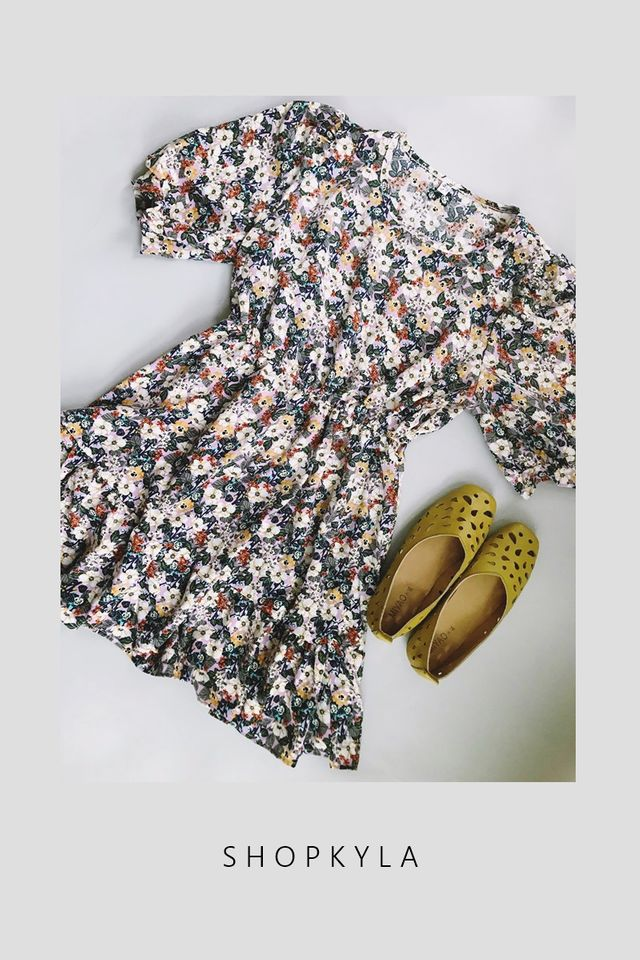 IN STOCK -  GWEN FLORAL DRESS