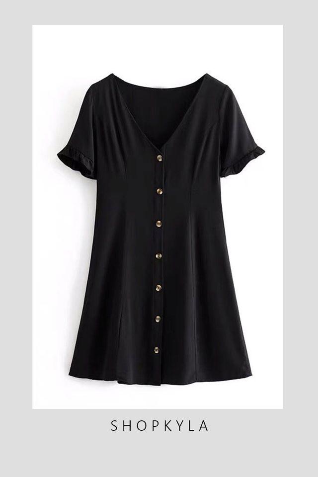IN STOCK - JUSTIN  DRESS IN BLACK