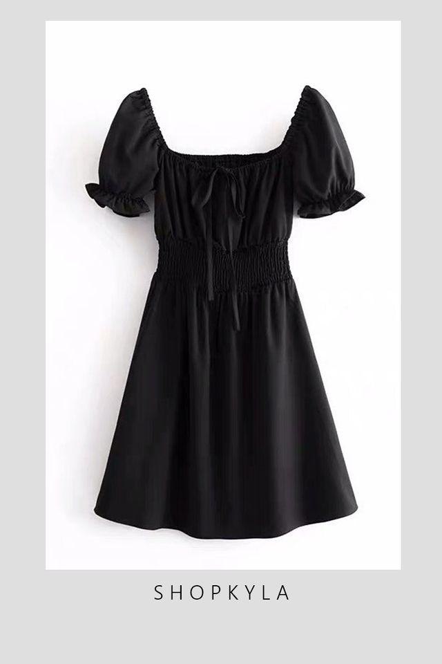 BACKORDER - URSULA DRESS IN BLACK
