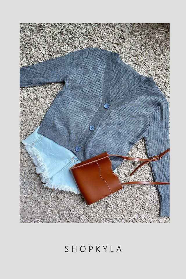 SG IN STOCK -MELIA CARDIGAN IN GREY
