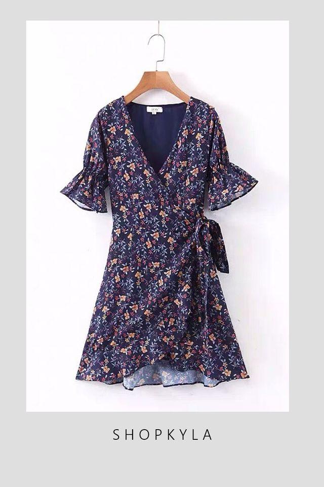BACKORDER - KAY FLORAL DRESS IN BLUE