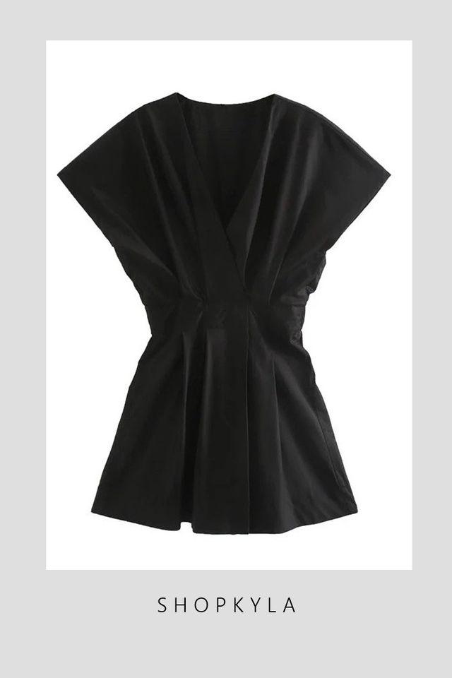 SG IN STOCK  - JOY DRESS IN BLACK
