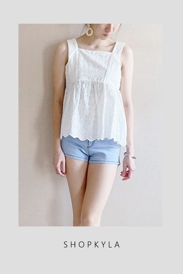 SG IN STOCK - JANE BABYDOLL TOP IN WHITE