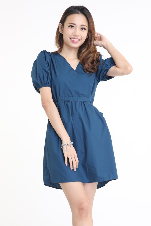 SG IN STOCK - DION DRESS IN TEAL BLUE