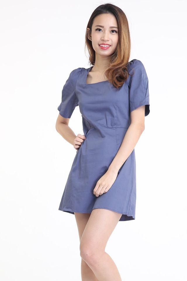 SG IN STOCK - JERVINE DRESS IN BLUE