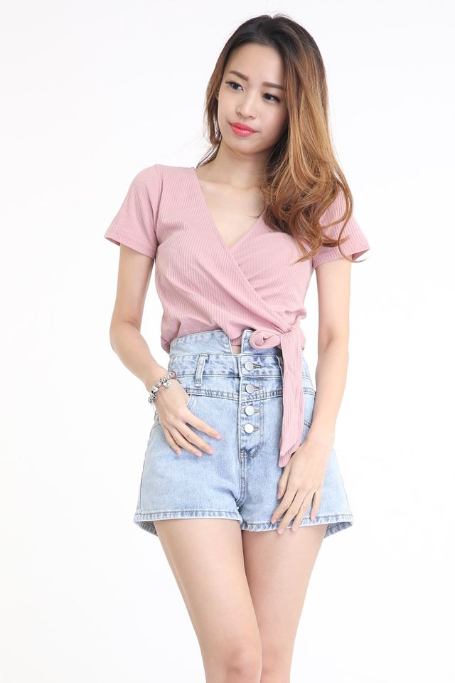 BACKORDER - LUCAX TIE KNOT TOP IN PINK