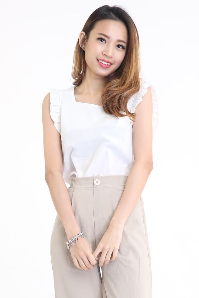 BACKORDER - AIDEEN TOP IN WHITE