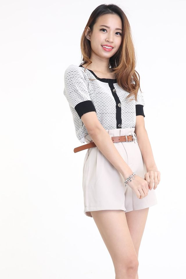 BACKORDER - SHORT PANTS WITH BELT IN BEIGH